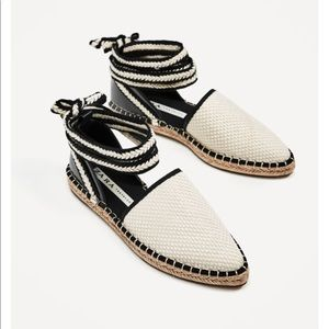 Zara lace up espadrilles